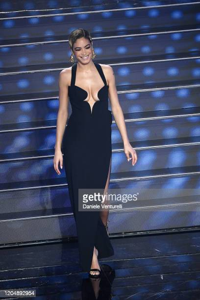 Elodie attends the 70° Festival di Sanremo at Teatro Ariston on February 08 2020 in Sanremo Italy