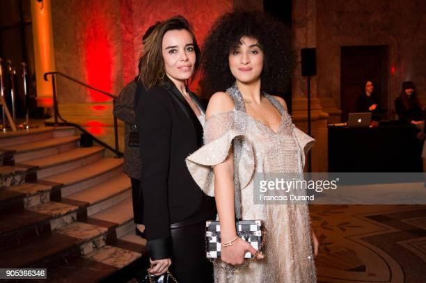 Elodie Bouchez and Camelia Jordana attend the 'Cesar Revelations 2018' party at Le Petit Palais on January 15 2018 in Paris France
