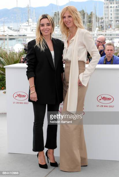 Elodie Bouchez and Sandrine Kiberlain attend Jury Camera D'Or Photocall during the 70th annual Cannes Film Festival at Palais des Festivals on May 18...