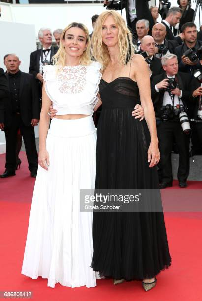 Elodie Bouchez and Sandrine Kiberlain attend 'The Killing Of A Sacred Deer' premiere during the 70th annual Cannes Film Festival at Palais des...