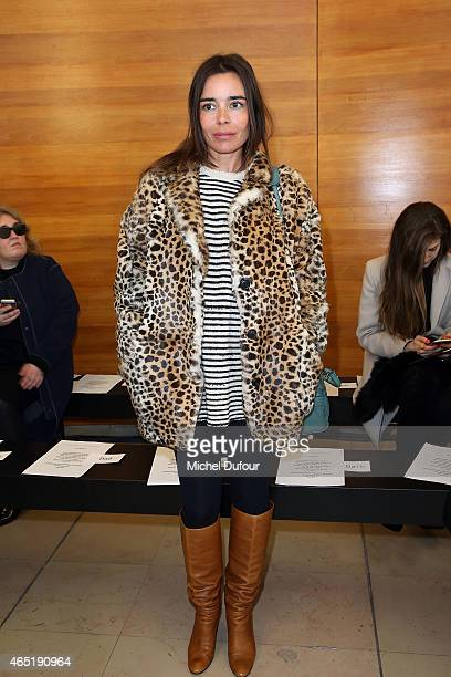 Elodie Bouchez attends the Anthony Vaccarello show as part of the Paris Fashion Week Womenswear Fall/Winter 2015/2016 on March 3 2015 in Paris France