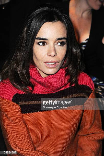 Elodie Bouchez attends the Louis Vuitton Ready to Wear Autumn/Winter 2011/2012 show during Paris Fashion Week at Cour Carree du Louvre on March 9,...