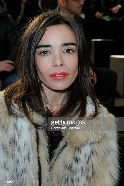 Elodie Bouchez attends the Louis Vuitton Ready to Wear show as part of the Paris Womenswear Fashion Week Fall/Winter 2011 at Cour Carree du Louvre on...