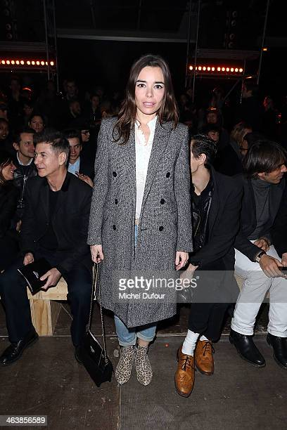Elodie Bouchez attends the Saint Laurent Menswear Fall/Winter 20142015 Show as part of Paris Fashion Week on January 19 2014 in Paris France