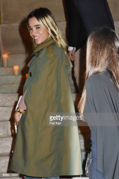 Elodie Bouchez attends The Vogue Party Outside Arrivals as part of the Paris Fashion Week Womenswear Spring/Summer 2018 on October 1 2017 in Paris...