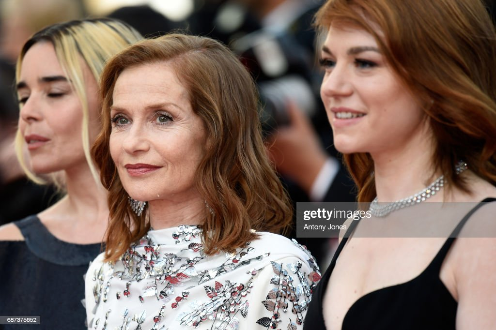 Elodie Bouchez, Isabelle Huppert and Emilie Dequenne attend the 70th Anniversary of the 70th annual Cannes Film Festival at Palais des Festivals on May 23, 2017 in Cannes, France.
