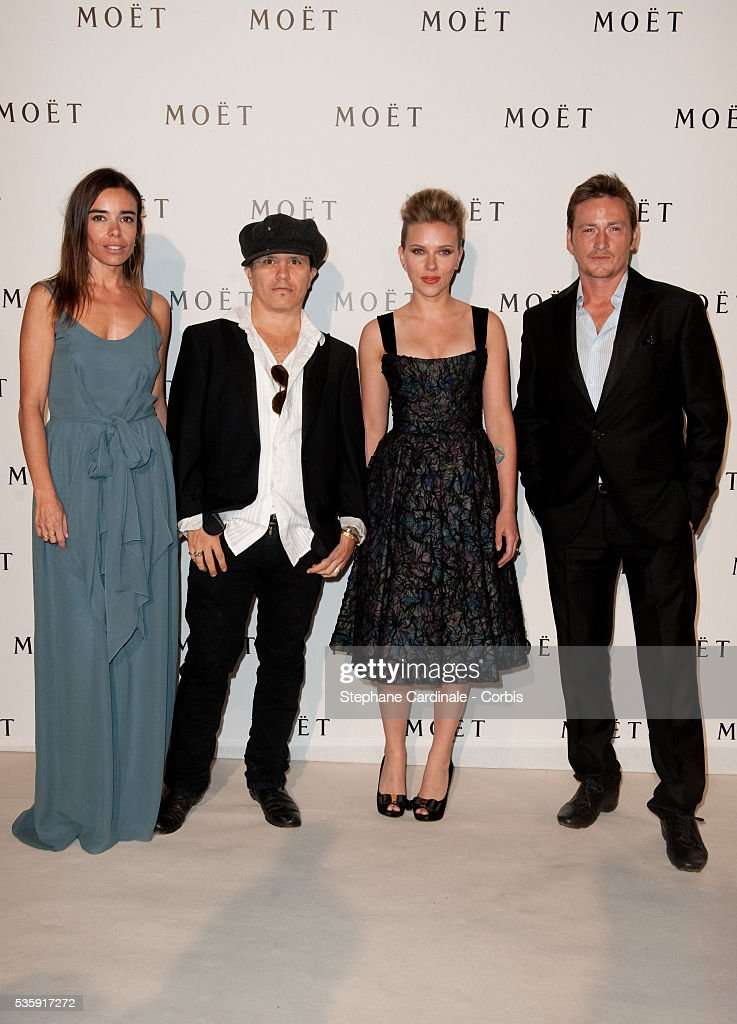 Elodie Bouchez, Olivier Dahan, Scarlett Johansson and Benoit Magimel attend the Moet & Chandon Tribute to Heritage Event in Epernay.