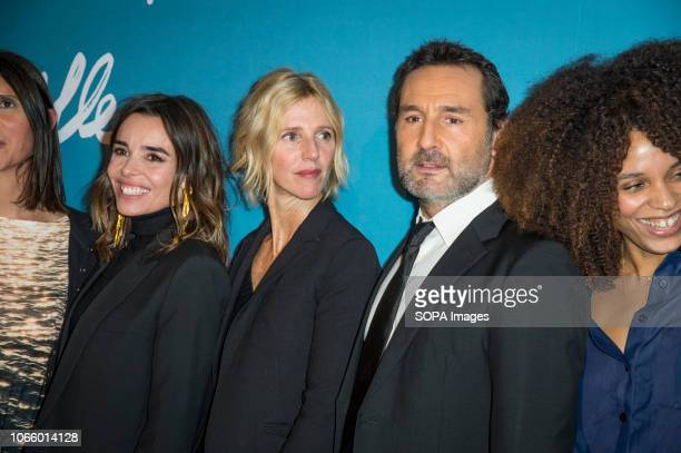 Elodie Bouchez, Sandrine Kiberlain, Gilles Lellouche and Stefi Celma are seen attending the Premiere of Pupille at the Cinema Pathe Grenelle in Paris.