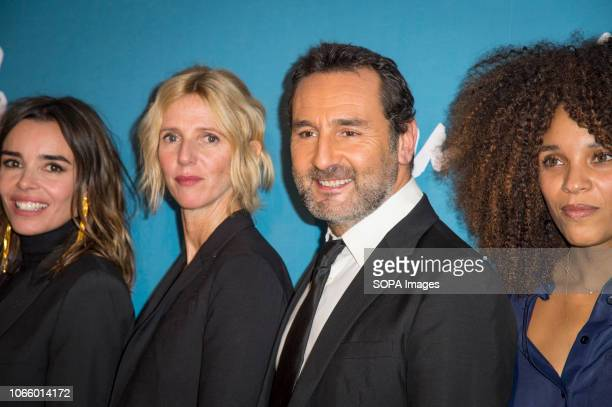 Elodie Bouchez, Sandrine Kiberlain Gilles Lellouche and Stefi Celma are seen attending the Premiere of Pupille at the Cinema Pathe Grenelle in Paris.