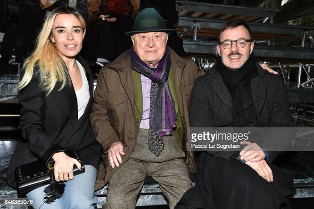 Elodie BouchezPierre Berge and a guest attend the Saint Laurent show as part of the Paris Fashion Week Womenswear Fall/Winter 2017/2018 on February...