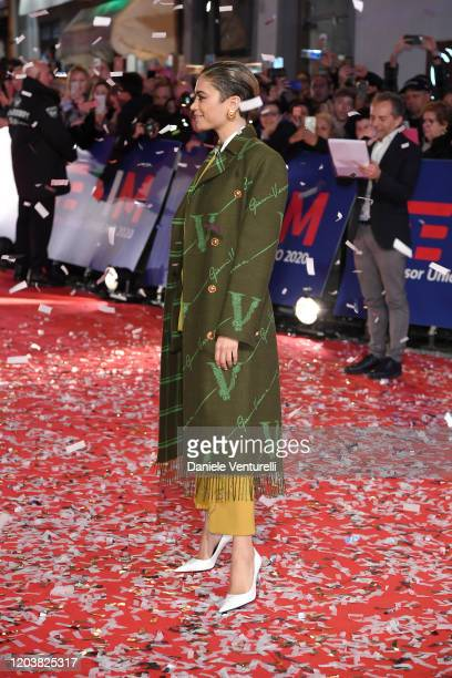 Elodie Di Patrizi aka Elodie attends the opening red carpet at the 70° Festival di Sanremo at Teatro Ariston on February 03 2020 in Sanremo Italy