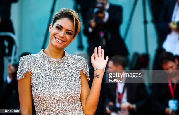 Elodie Di Patrizi attends the red carpet ahead of the 'Marriage Story' screening during during the 76th Venice Film Festival on August 29 2019 in...