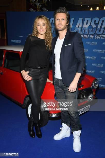 Elodie Fontan and Philippe Lacheau attend The Nicky Larson Et Le Parfum De Cupidon Premiere February 01 2019 in Paris France