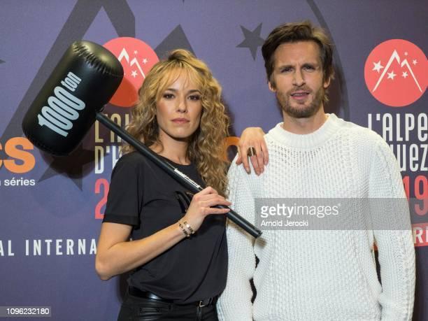 Elodie Fontan and Philippe Lacheau attends 'Nicky Larson et le parfum de Cupidon' premiere during the 22nd L'Alpe D'Huez International Comedy Film...