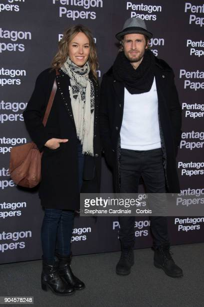 Elodie Fontan and Philippe Lacheau attends 'Pentagon Papers' Premiere at Cinema UGC Normandie on January 13 2018 in Paris France