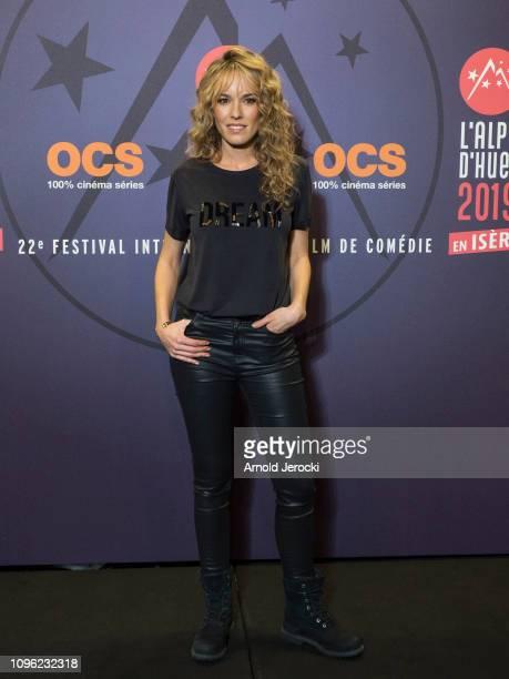 Elodie Fontan attends 'Nicky Larson et le parfum de Cupidon' premiere during the 22nd L'Alpe D'Huez International Comedy Film Festival on January 18...