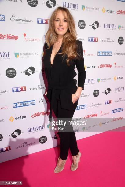 """Elodie Fontan attends the 27th """"Trophees Du Film Francais"""" photocall At Palais Brongniart on February 11, 2020 in Paris, France."""