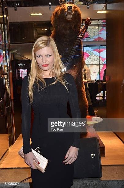 Elodie Frege attends the Lancel celebration of '135 Years Of French Legerete' Hosted By Sienna Miller at Lancel Shop Champs Elysees on November 24...