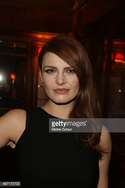 Elodie Frege attends the Nathalie Garcon Cocktail Party In Paris on October 13 2014 in Paris France