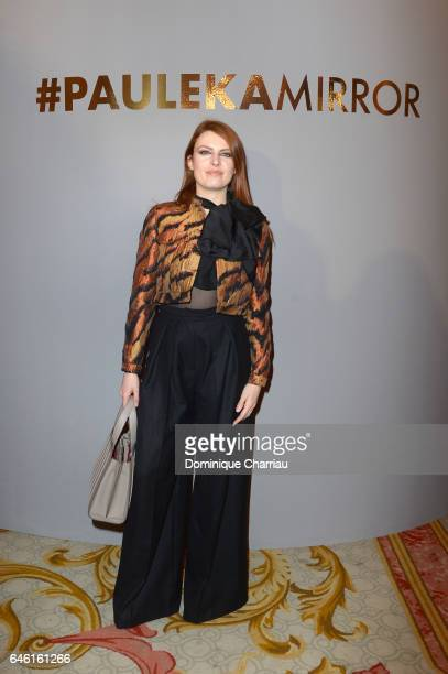 Elodie Frege attends the Paule Ka Presentation as part of the Paris Fashion Week Womenswear Fall/Winter 2017/2018 at Hotel Intercontinental on...
