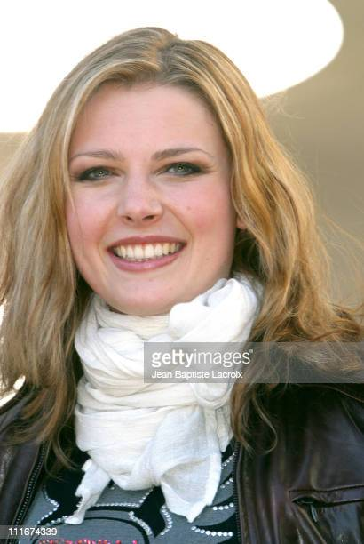 Elodie Frege of Star Academy 3 during MIPTV 2004 WorldBest Photocall at Martinez Hotel in Cannes France