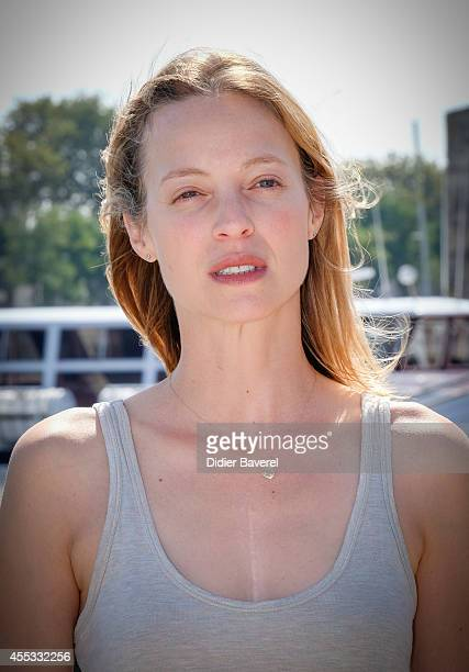 Elodie Frenck attends the photocall of 'Les Petits Meutres' as part of 16th Festival of TV Fiction of La Rochelle on September 12, 2014 in La...