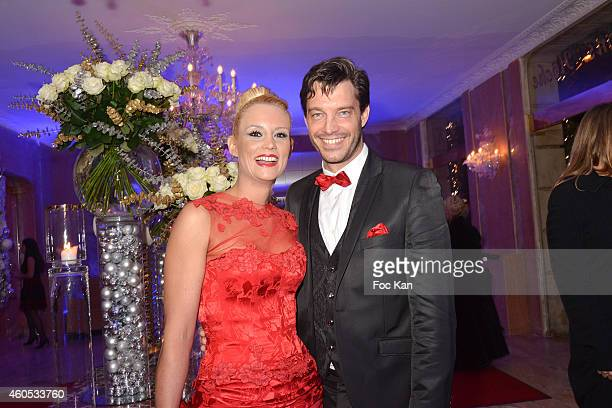 Elodie Gossuin and husband Bertrand Lacherie attend 'The Best' Awards 2014 Ceremony At Salons Hoche on December 15 2014 in Paris France