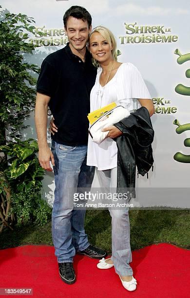 Elodie Gossuin and husband Bertrand Lacherie during Shrek the Third Paris Premiere at Paramount Opera Theater in Paris France