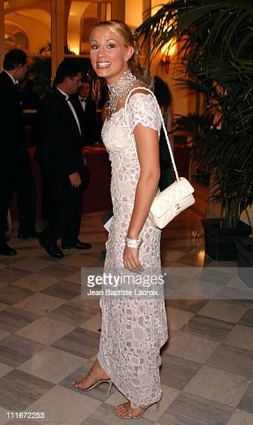 Elodie Gossuin Miss France 2001 during Gala Dinner for The Best Award Arrivals at The Royal Monceau Hotel in Paris France