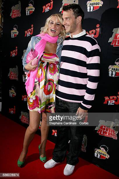 Elodie Gossuin with her Husband Bertrand Lacherie attend the 2007 NRJ Cine Awards in Paris