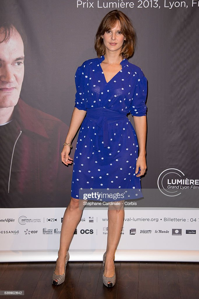 Elodie Navarre attends the Tribute to Quentin Tarantino, during the 5th Lumiere Film Festival, in Lyon.