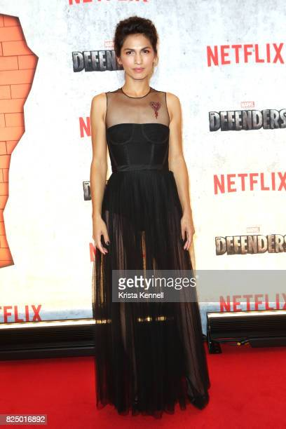 Elodie Yung arrives to the 'Marvel's The Defenders' New York Premiere at Tribeca Performing Arts Center on July 31 2017 in New York City