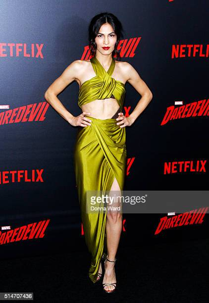 Elodie Yung attends the 'Daredevil' Season 2 Premiere at AMC Loews Lincoln Square 13 theater on March 10 2016 in New York City