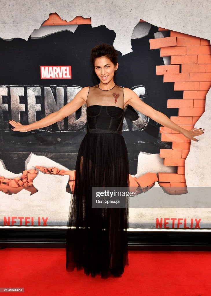Elodie Yung attends the 'Marvel's The Defenders' New York Premiere at Tribeca Performing Arts Center on July 31, 2017 in New York City.