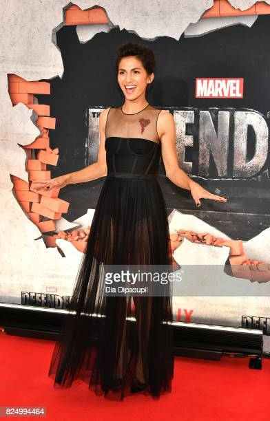Elodie Yung attends the 'Marvel's The Defenders' New York Premiere at Tribeca Performing Arts Center on July 31 2017 in New York City