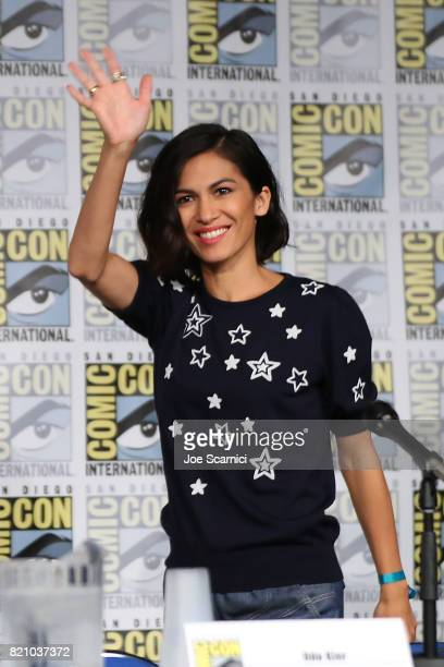 Elodie Yung speaks onstage during the 'Call of Duty WWII Nazi Zombies' Panel at San Diego Convention Center on July 20 2017 in San Diego California