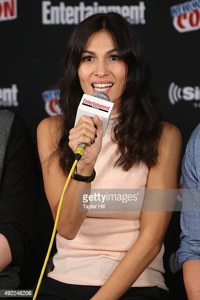 Elodie Yung visits the SiriusXM Studios during New York ComicCon at The Jacob K Javits Convention Center on October 10 2015 in New York City
