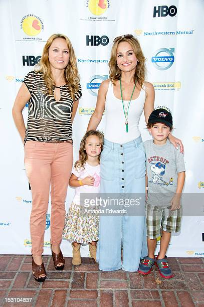Eloisa De Laurentiis Jade Thompson celebrity chef Giada De Laurentiis and Julian Vaguelsy arrive at the LA Loves Alex's Lemonade Culinary Event at...