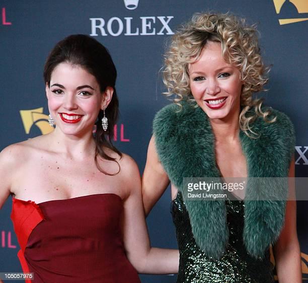 Eloisa Maturen and Julia Trappe attend the Los Angeles Philharmonic opening night gala to celebrate Maturen's husband music director Gustavo Dudamel...