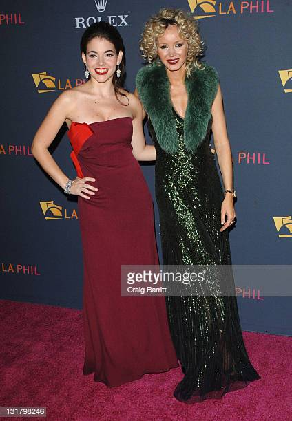 Eloisa Maturen and Julia Trappe attend the Los Angeles Philharmonic opening night gala to celebrate music director Gustavo Dudamel and famed Peruvian...