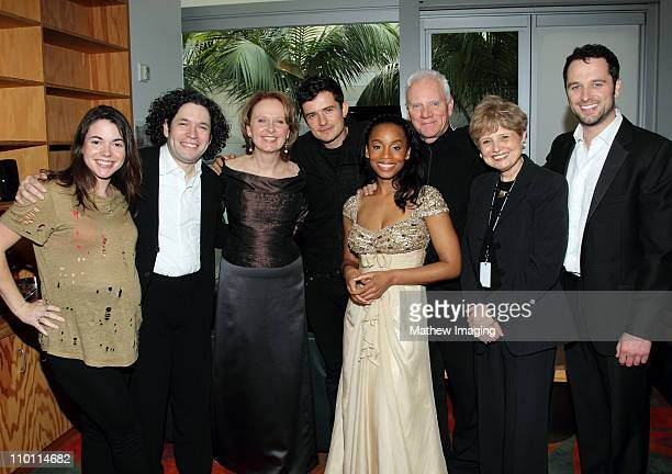 Eloisa Maturen Music Director Gustavo Dudamel and actors Kate Burton Orlando Bloom Anika Noni Rose Malcolm McDowell President and CEO of the Los...