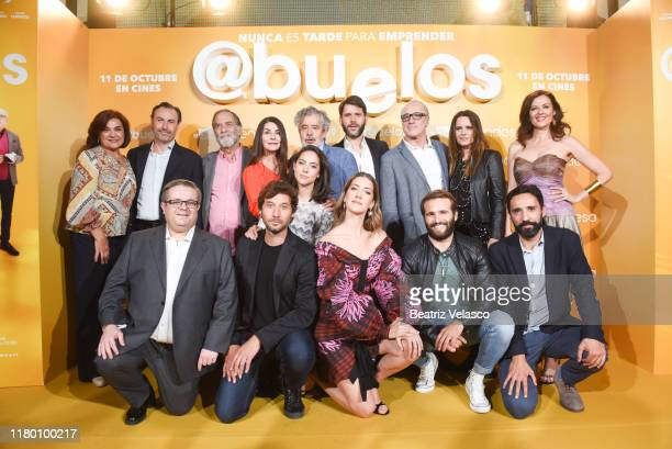 Eloisa Vargas Ramon Barea Ana Fernandez Clara Alonso Roberto Alvarez Eva Santolaria Lara Carrochano attend Abuelos premiere on October 09 2019 in...