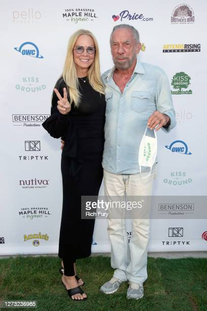 Eloise Broady DeJoria and John Paul DeJoria attend a Special DriveIn Screening of KISS THE GROUND available on Netflix September 22 2020