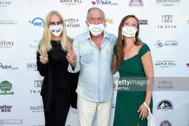 Eloise Broady DeJoria John Paul DeJoria and Rebecca Harrell Tickell attend a Special DriveIn Screening of KISS THE GROUND available on Netflix...