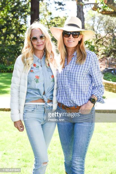 Eloise DeJoria and Christine Weller attend Hearst Castle Preservation Foundation Lunch at the Piedras Blancas Ranch at Hearst Ranch on September 29...