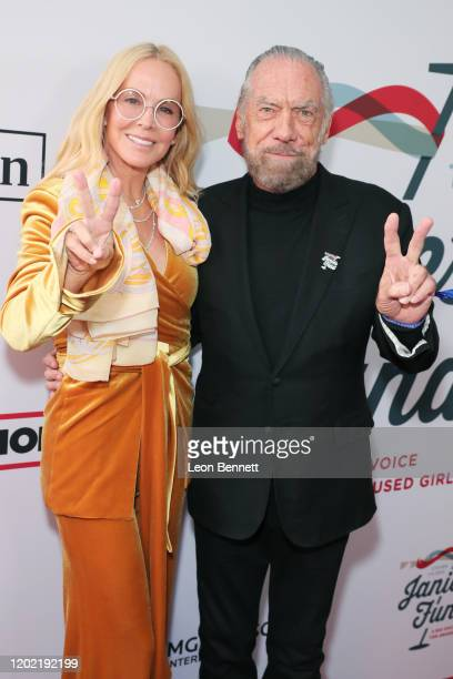 Eloise DeJoria and John Paul DeJoria arrive at Steven Tyler's Third Annual Grammy Awards Viewing Party to benefit Janie's Fund presented by Live...