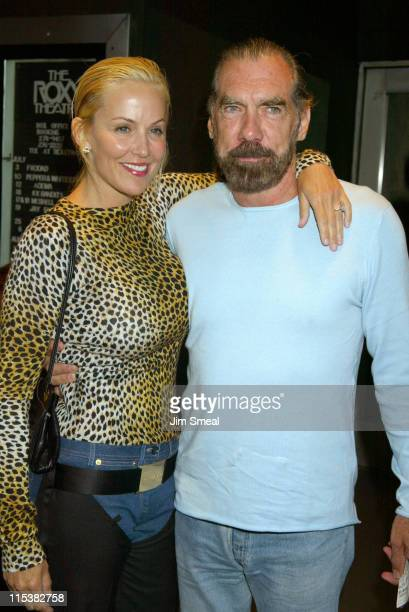 Eloise DeJoria and John Paul DeJoria arrive at the Duran Duran Concert at The Roxy presented by DKNY Jeans and The Fader