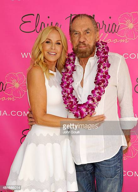 Eloise Dejoria and John Paul DeJoria attend the Eloise Dejoria Fashionwear Launch at a Private Residence on August 22 2015 in Malibu California