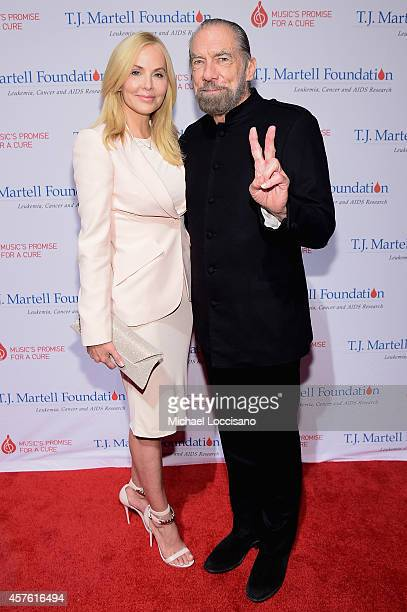 Eloise DeJoria and John Paul DeJoria attend the TJ Martell Foundation's 39th Annual New York Honors Gala at Cipriani 42nd Street on October 21 2014...