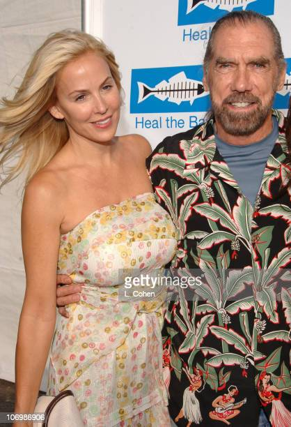 Eloise DeJoria and John Paul DeJoria during Heal the Bay Bring Back the Beach Arrivals at Barker Hanger in Santa Monica California United States